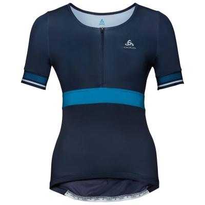 a229591b9 Koszulka tech. damska Odlo Shirt s s 1 2 zip ZEROWEIGHT CERAMICOOL PRO